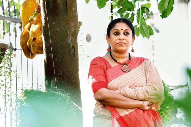 K.R. Meera at her home in Kottayam, Kerala. Photo: Vivek R Nair/Mint