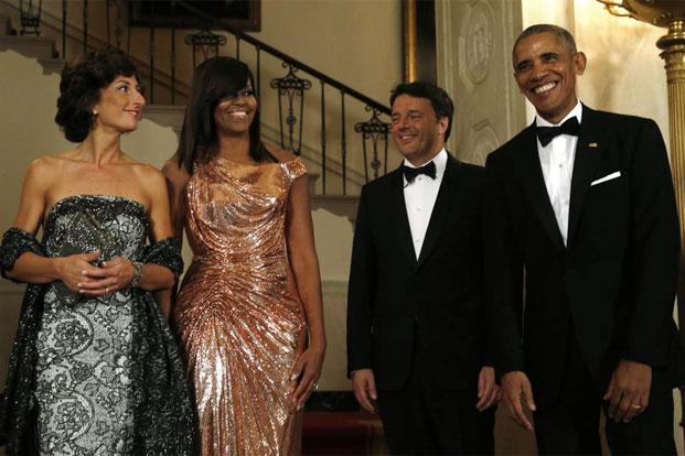 Michelle Obama at the Obamas' last state dinner in October. Photo: AFP