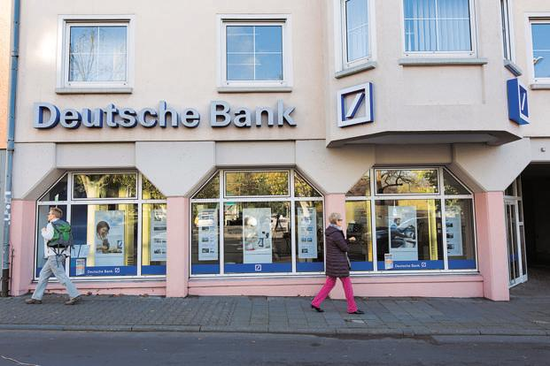 Deutsche Bank shares fell 1.3% to €19.14 in Frankfurt on Friday. Photo: Bloomberg