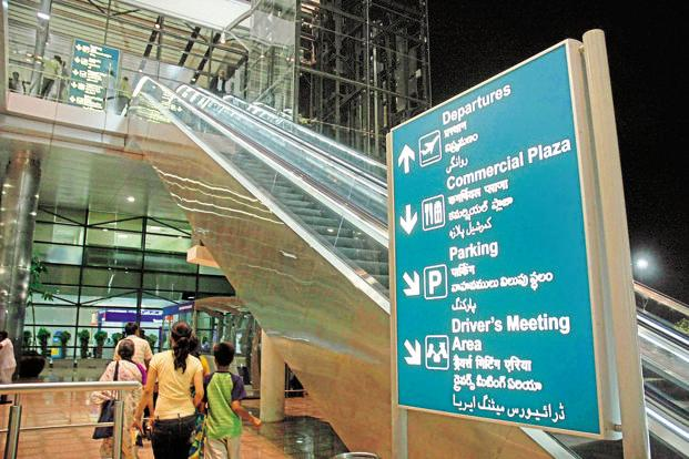 The GMR Group holds a 63% stake in GMR Hyderabad International Airport, Government of India 13%, Government of Telangana 13% and Malaysia Airports Holdings Bhd 11%. Photo: Mint