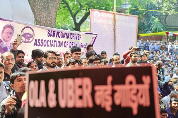 The primary grouse of cab drivers who went on strike last month was a drastic cut in their incentives. Photo: Pradeep Gaur/Mint