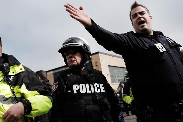 A file photo of US police. Photo: AFP