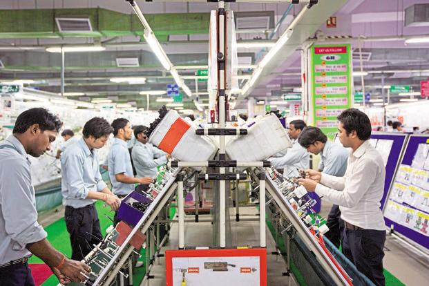 Manufacturing accounted for a large chunk of India's GDP growth, very likely due to higher inventories and higher commodity prices. Photo: Bloomberg