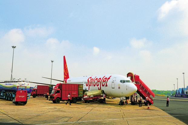 SpcieJet has about 343 daily flights to 45 destinations on a 49-plane fleet and about 13% domestic market share. Photo: Ramesh Pathania/Mint