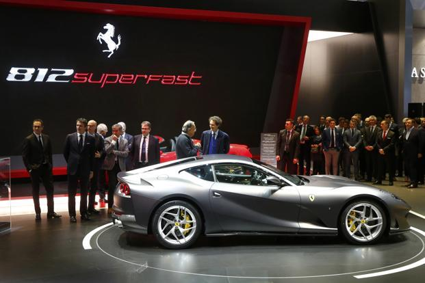 Borrowing from Ferrari's Formula One designs, the 812 Superfast is aimed squarely at a core audience of race-car aficionados. Photo: Reuters