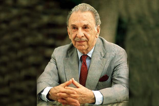 A file photo of JRD Tata, who was awarded Bharat Ratna, the country's highest civilian award, in 1992. Photo: Hindustan Times