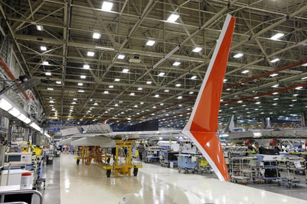 A file photo of Boeing 737 MAX winglets in Renton, Washington. Photo: AP