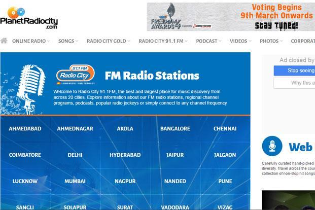 Music Broadcast, which owns and operates Radio City, has a pan-India presence with radio stations in 37 cities.
