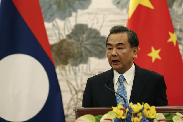 Chinese foreign minister Wang Yi during his media interaction on Wednesday. Wang took questions on China's ties with all major countries. Photo: AP