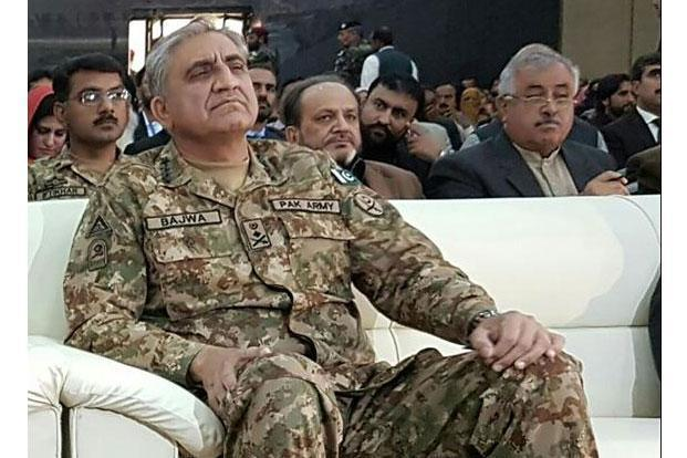 A file photo of Pakistan Army chief General Qamar Javed Bajwa. The army says the support will include training and even the provision of military personnel for the month-long event. Photo: AFP