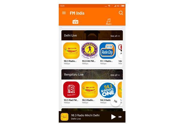FM Radio by FM India Team is an online radio app that provides access to radio stations beyond your city limits.