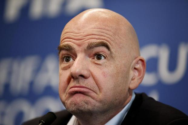 FIFA president Gianni Infantino echoed recent remarks by UEFA president Aleksander Ceferin, who said the World Cup 'cannot be played' in a country with extensive travel restrictions. Photo: Reuters