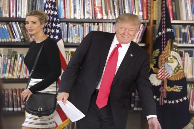 US President Donald Trump along with his daughter Ivanka Trump. Photo: AP