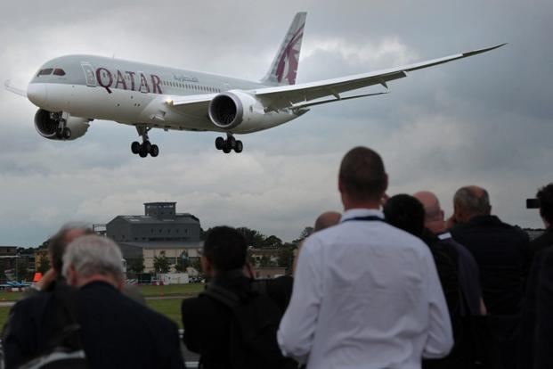 Qatar Airways has introduced 100 new planes in crowded Indian skies. Photo: AFP