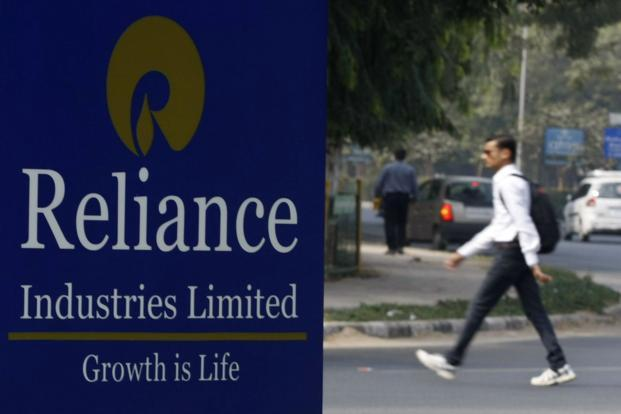 The Reliance Industries shares closed down 0.35% at Rs1,287.35, while India's benchmark index,Sensex, rose 0.09% to 28,929 points.. Photo: Reuters