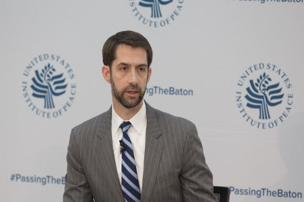 A file photo of Republican Senator from Arkansas Tom Cotton. Photo: AFP