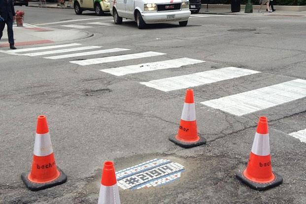 Chicago artist Jim Bachor raises money on Kickstarter to fund his pothole mosaics.