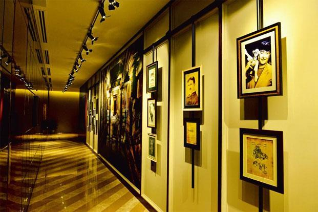 The corridor leading to the meeting rooms of The Indus Club.