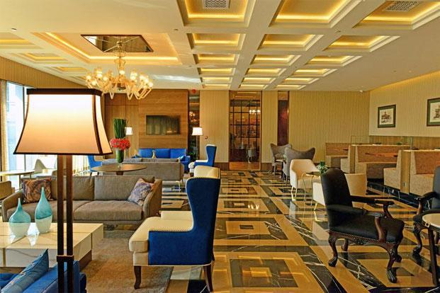 The cafe and dining area of The Indus Club. Photographs: Aniruddha Chowdhury/Mint