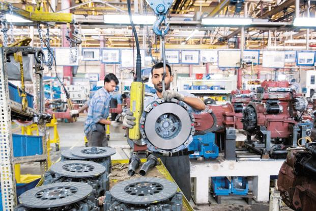 Capital goods production—a key indicator of the investment demand in the economy—also rebounded growing by 10.7% in the month. Photo: HT