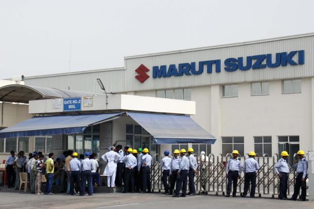File photo. An argument between workers and a supervisor over conditions turned violent at a Maruti Suzuki India Ltd plant in Haryana in July 2012. Photo: HT