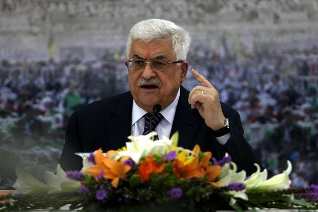 Mahmud Abbas is said to have told Donald Trump that peace was a 'strategic choice' for the Palestinian people that should lead to the 'establishment of a Palestinian state alongside Israel. Photo: AFP