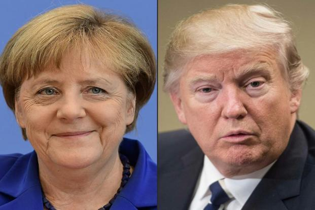The Tuesday's meeting between Donald Trump and Angela Merkel will be the first one. Photo: AFP