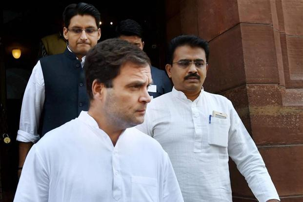 Congress vice president Rahul Gandhi. Uttar Pradesh election results declared Saturday showed the Congress won only 7 out of the 105 seats it contested in the state. Photo: PTI
