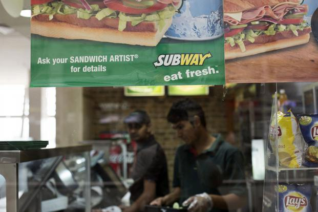 Subway, which operates 600 outlets in over 70 cities in the country, is looking at both metro and non-metro locations under its plans. Photo: Bloomberg