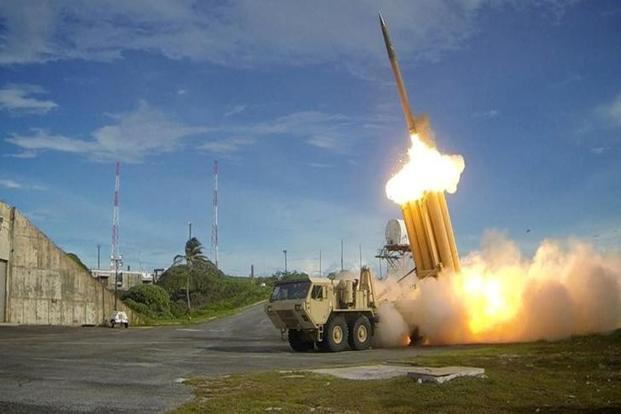 THAAD is a US Army anti-ballistic missile system which is designed to shoot down short, medium and intermediate range ballistic missiles in their terminal phase using a hit-to-kill approach. Photo: Reuters