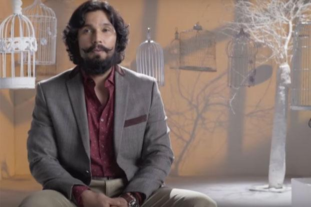 Randeep Hooda in a still grab from the promo video of 'The Big F'.