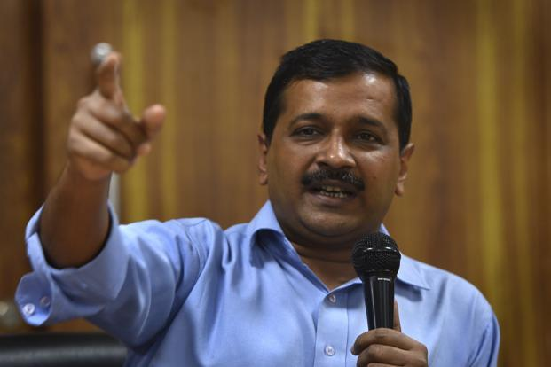 Delhi chief minister Arvind Kejriwal wants the Election Commission to conduct Delhi's MCD elections using ballot papers, following the EVM controversy sparked by Mayawati. Photo: HT