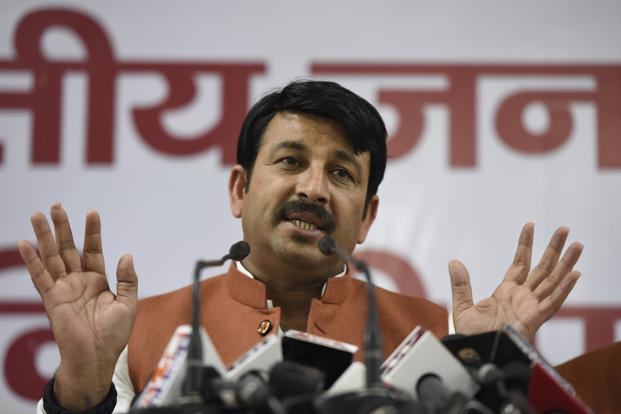 Manoj Tiwari, Delhi BJP chief, says the party has unanimously decided to field fresh faces in the municipal polls. Even the family members of the councillors and party leaders will not be given tickets. Photo: Hindustan Times