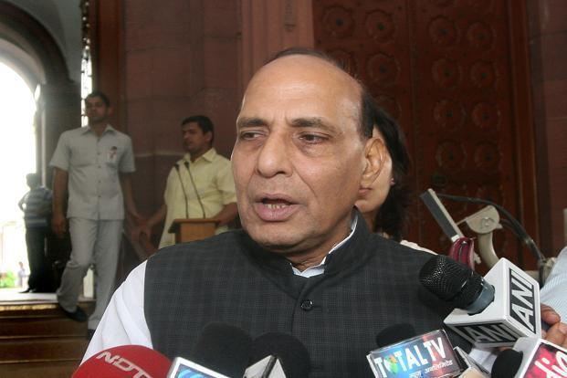 A file photo of Union home minister Rajnath Singh. Photo: HT
