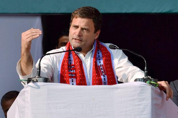 Congress vice president Rahul Gandhi. The BJP moved swiftly after the election results showed hung assemblies in Goa and Manipur, forging alliances and staking its claim to form coalition governments in the states. Photo: PTI