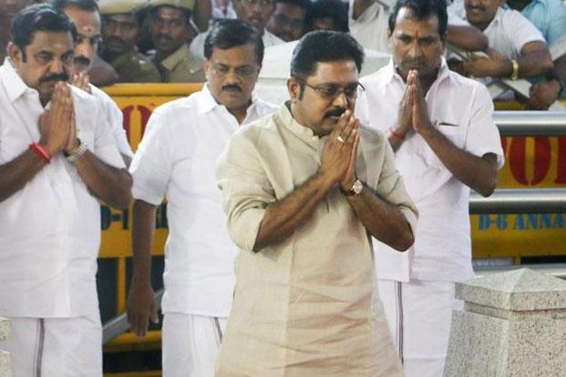 T.T.V. Dinakaran, who was expelled from the party by Jayalalithaa in 2011, was inducted into the party by his aunt Sasikala last month. Photo: PTI