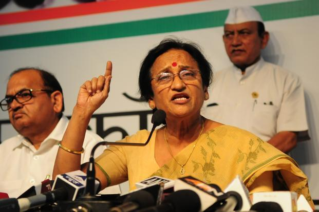 Rita Bahuguna Joshi, who joined the Bharatiya Janata Party in October 2016, won in the UP assembly elections. File Photo: Hindustan Times