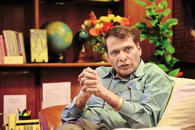 Railway minister Suresh Prabhu. Photo: Mint