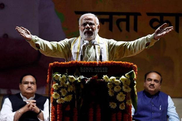 Prime Minister Narendra Modi led the Bharatiya Janata Party to a historic mandate in Uttar Pradesh and Uttarakhand, confirming the BJP's emergence as the principal pole of Indian politics. Photo: PTI