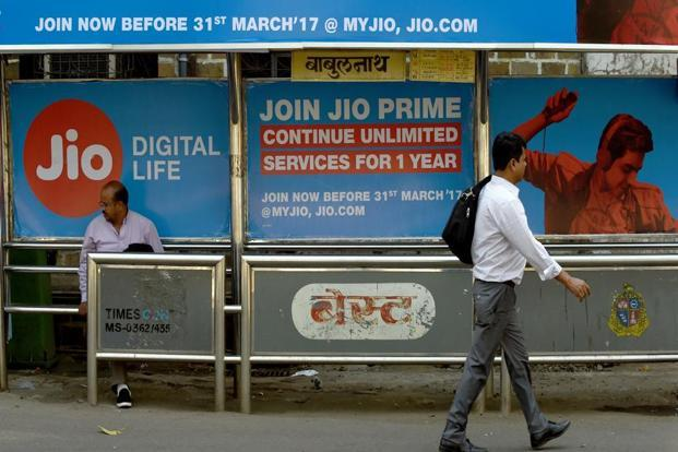Reliance Jio announced recently that it will start charging for its mobile services from 1 April. Photo: AFP