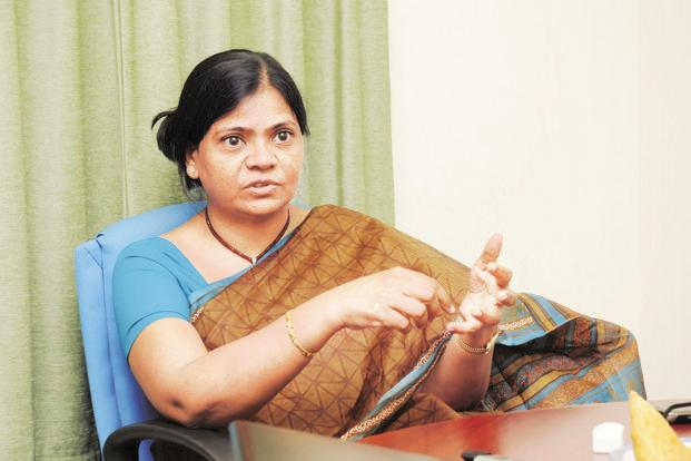 Spandana Sphoorty MD Padmaja Reddy says after the stake sale to Kedaara Capital, the microfinance firm will have net owned funds worth Rs700 crore and debt of Rs1,000 crore as of 31 March. Photo: Bharath Sai
