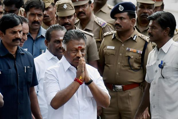 A file photo of former Tamil Nadu chief minister O. Panneerselvam. Photo: PTI