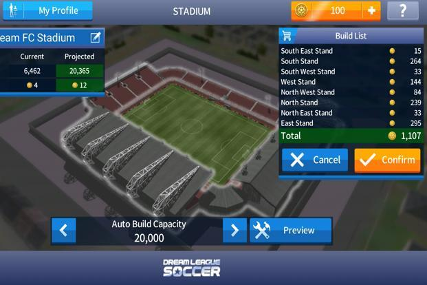 The game's biggest attraction is that it doesn't ask for active internet connection except when you are playing in the Dream League Online league, or accessing the coins market