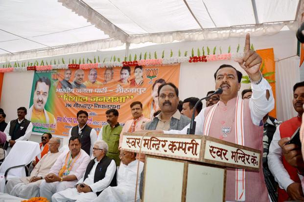 BJP president Amit Shah's remark on Thursday that he had given Keshav Prasad Maurya the responsibility to select the CM gave rise to conjecture within the party that Maurya, who is BJP's OBC face in UP, is out of the reckoning. Photo: PTI