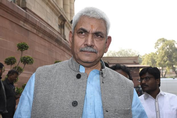 Union minister Manoj Sinha along with home minister Rajnath Singh and BJP state unit chief Keshav Prasad Maurya are among the front runners for the role of Uttar Pradesh chief minister. But given the BJP leadership's surprise choice of state leaders like Manohar Lal Khattar and Vijay Rupani, a relatively lesser known leader cannot be ruled out. Photo: Hindustan Times