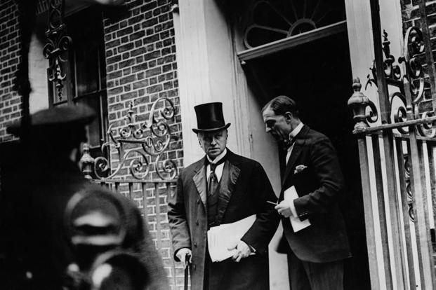 Lord Curzon pictured leaving 10 Downing Street, London, in  1923. Photo: Getty Images