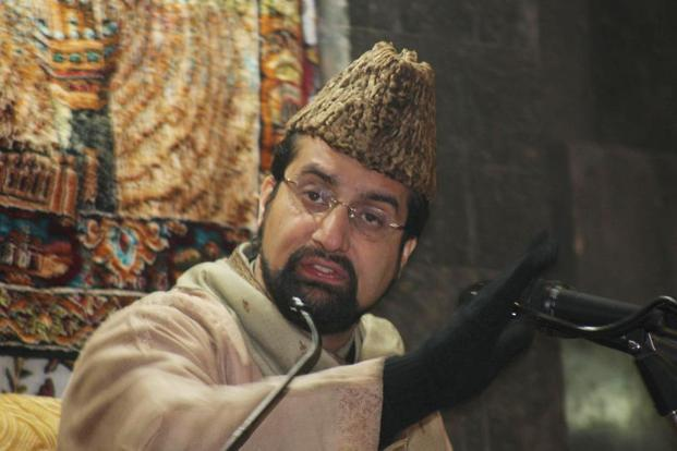 A file photo of separatist leader Mirwaiz Umar Farooq. Photo: HT
