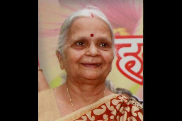 Goa governor Mridula Sinha is a renowned Hindi writer and former chairperson of Central Social Welfare Board, ministry of human resource development. Photo: PTI