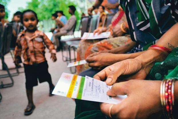 More than 112 crore Aadhaar have been generated in the country, the Aadhaar authentications have crossed 500 crore. Photo: Priyanka Parashar/Mint