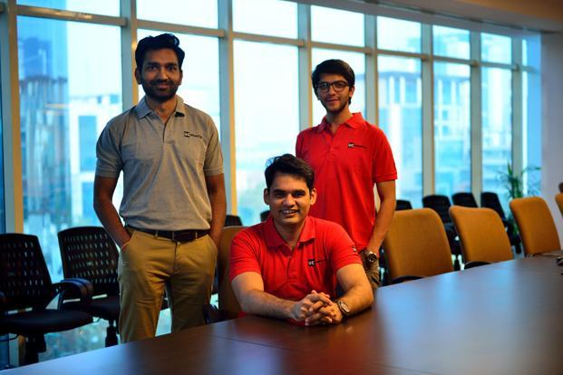 UrbanClap Abhiraj Bhal (centre) with co-founders Varun Khaitan (left) and Raghav Chandra. Bhal says there is no timeline for an UrbanClap IPO, but that is what they are building the company for. Photo: Pradeep Gaur/Mint